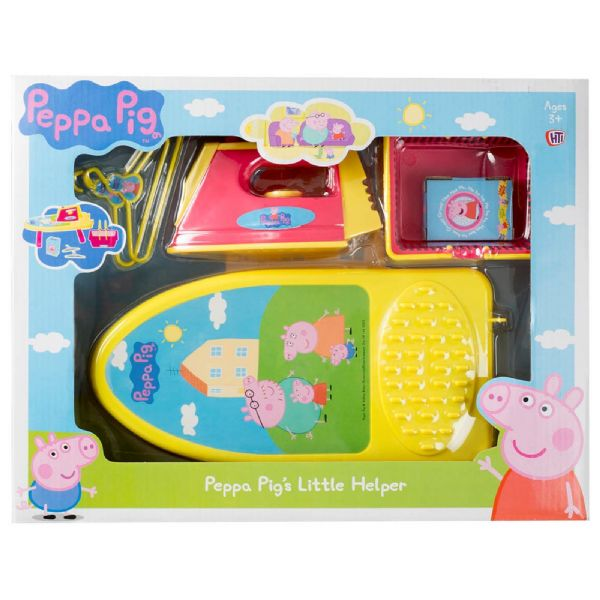 Peppa Pig Little Helper Toy Set includes Iron, Ironing Board + Accessories 3+Yrs